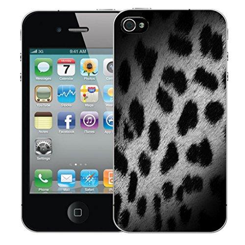 Nouveau iPhone 5 5s clip on Dur Coque couverture case cover Pare-chocs - shaddow leopard Motif avec Stylet shadow leopard