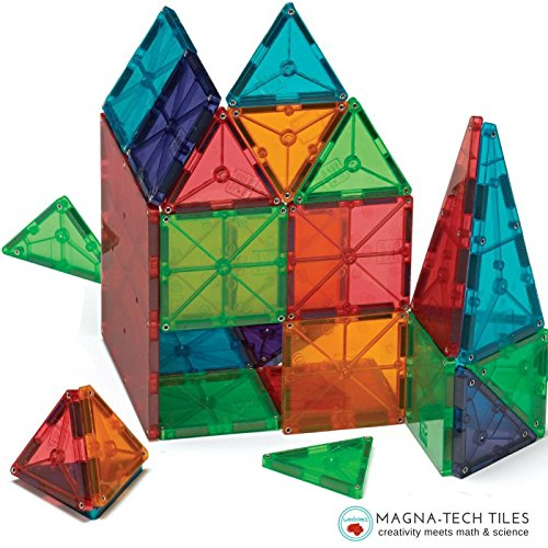 51Ldmgy %2BxL Magnetic Block Toy To Build 3D Magnet Tile Structures   (100 Piece) Magna Color Shapes Are Kid Approved! This Learn & Play Set Is Best For Children & Toddlers, Instead Of Wooden Construction BlocksUK best buy   Reviews   Price
