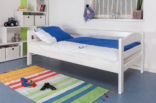 "Kinderbett/Jugendbett""Easy Premium Line"" K1/n Sofa, Buche Vollholz massiv weiß lackiert - Maße: 90 x 200 cm"