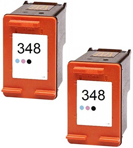 Photosmart C4280 Inkjet-drucker (Printing Pleasure 2 Foto-Tintenpatronen für HP PSC 1610 OfficeJet 6310 J6410 H470 DeskJet 460 5420 6840 6940 9800 D4260 Photosmart C4480 C4580 2610 7850 8050 8150 8750   kompatibel zu HP 348 (C9369EE))