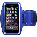 Pratique sac de sport bracelet pour Smartphone et MP3Player avec compartiment pour clés de PrimaCase Sony Xperia Z5 Premium 04.Blau