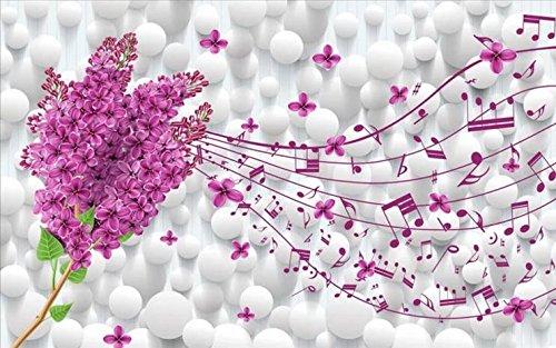 HHCYY Kundenspezifische Tapete Moderne Lavendel Tapete Wohnzimmer 3D -Foto -HintergrundTapete-350cmx245cm