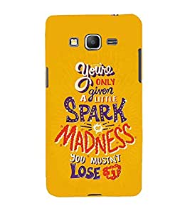 FUSON Spark Of Madness Lose 3D Hard Polycarbonate Designer Back Case Cover for Samsung Galaxy Core Prime :: Samsung Galaxy Core Prime G360 :: Samsung Galaxy Core Prime Value Edition G361 :: Samsung Galaxy Win 2 Duos Tv G360Bt :: Samsung Galaxy Core Prime Duos