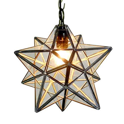 Stern Decke Licht Schattig Klares Glas Transparente Lampenschirme Kronleuchter Lichter Loft Für Korridor Gang Tür Bar Schlafzimmer Restaurant Wohnzimmer Hausbeleuchtung (30Cm) -
