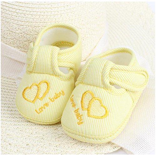 Zhuhaitf Ausgezeichnet Baby Girls Boys Fashion Non-slip Shoes Toddler Soft Sole Shoes Yellow cyk1K