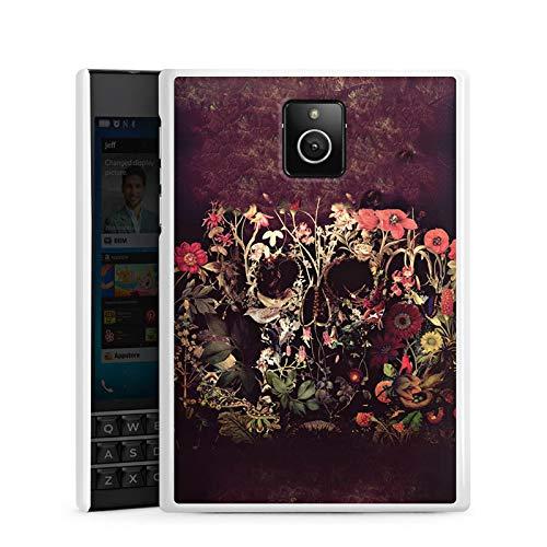 DeinDesign BlackBerry Passport Hülle Case Handyhülle Skull Blumen Flower