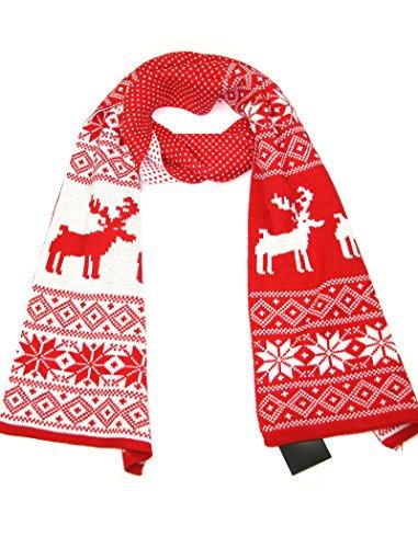 LOVARZI Rot Frauenschal Weihnachten Schal für Damen und Mädchen - Winterschals für Herren Damen