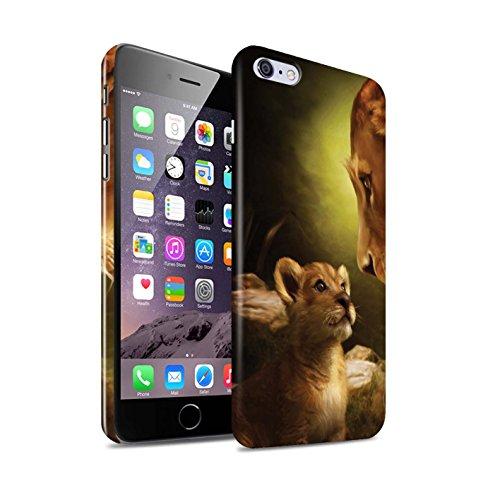Officiel Elena Dudina Coque / Clipser Brillant Etui pour Apple iPhone 6+/Plus 5.5 / Le Brave/Chaton Design / Les Animaux Collection Oui Maman/Lion/Petit