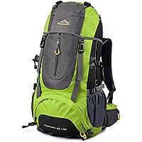 Vbiger Zaino Alpinismo 65+5L Impermeabile per Viaggio Trekking Unisex (Verde)