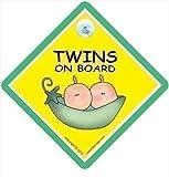 Zwillinge An Bord, Bord Autoschild, Peapod, Schild, Auto Grün Erbsen Schale, Baby A, A, Aufkleber, Stoßstange Aufkleber Baby, Zwillinge-zeichen, Baby-schild, Mutterschaft, Schwangerschaft