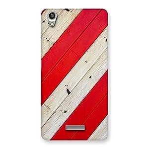 Enticing Diagnoal Red Print Back Case Cover for Lava-Pixel-V1