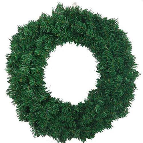 BCX die Weihnachtskränze grünen Kreis Handwerk Naked Rosette Festliche Lieferungen PVC Material,60 cm -
