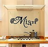 ZOUJIE Sticker Mural Autocollant Miam atmosphère détachable Bricolage décoration de la Maison Papier Peint Vinyle décoration Murale 58 * 58 cm
