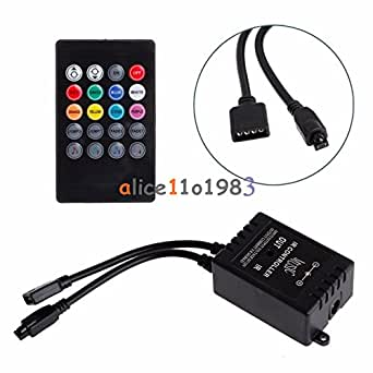 Generic 12V DC Music Sound Activated Controller For RGB LED Light Strip 20 Key Remote