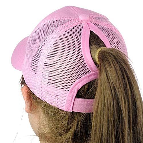 Saingace(TM) Mode Schachtelhalm Baseball Cap Adjustable Unisex Baseballmütze,Tennis Hut Einfache Lässig Kappe Sonnenschutz Sonnenhut Laufen Hut für Draussen Sport Reisen (Rosa) - Laufen Mädchen Hut