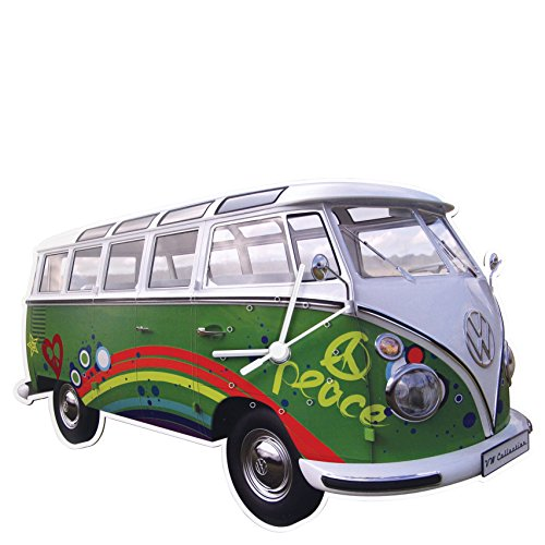 VW Collection by BRISA BUWC04 Wanduhr VW Bus T1 Analog Quarz Vw Bus Uhr