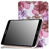"""MoKo LYSB00Z076JVW 8"""" Dossier Floral Violet- Étuis pour tablette (Dossier, Samsung, Galaxy Tab S2/S2 Nook 8.0, 20,3 cm (8""""),"""