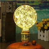 Vintage Lighting Bulb, S7 SEVEN G95 3W Edison Retro LED Bulbs Filament Globe Spiral Design LED Lights Home Decorative Bulbs with E27 Base 2700K (Warm white)