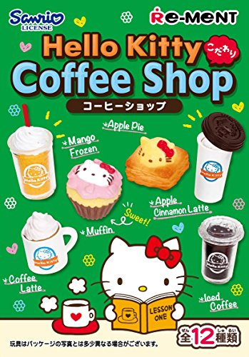ON BOX 12 pcs Hello Kitty Auserlesenes Kaffeegeschäft (Candy Toys u0026 gum) / by Re-Ment / Die Miniaturfigur