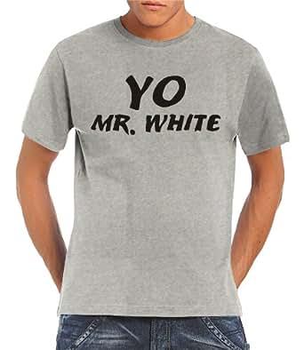 Touchlines Herren T-Shirt Yo Mr. White, ash, S, B140313TS