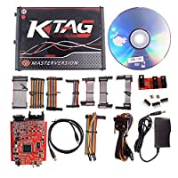 ‏‪KKmoon KTAG V7.020 ECU Programming Tool Unlimited Token Car Diagnostic Tool with Red PCB‬‏