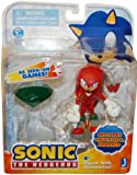 Sonic the Hedgehog 3- Inch Knuckles and Emerald Action Figure (Red)