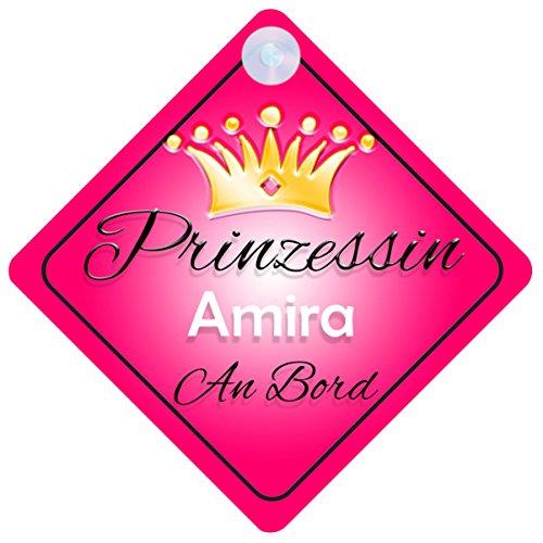 Preisvergleich Produktbild Prinzessin Amira Baby / Kind an Bord Mädchen Auto-Zeichen (Prinzessin001)