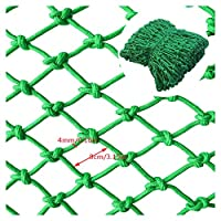 BHH Children Stairs Balcony Protection Net, Nylon Decor Net Rope Ceiling Net Indoor Anti-fall Net Isolation Anti-cat Net Hanging Clothes Net Green 8cm Mesh 4mm Rope Thick (Size : 3x9m)