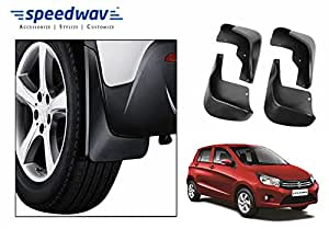 Speedwav Car Plastic Mud Flaps Set 4 Pcs -Maruti Celerio