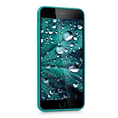 kwmobile Hülle für Apple iPhone 6 Plus / 6S Plus - TPU Silikon Backcover Case Handy Schutzhülle - Cover Metallic Rosegold .Petrol matt