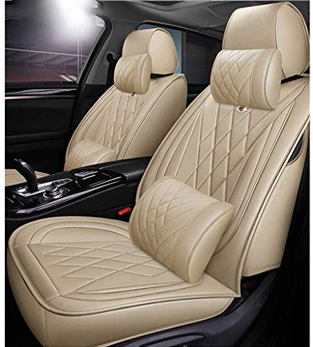Auto sitzbezüge Pu leder autositzbezug sets vollen satz wasserdicht für bmw f10 f11 f15 f16 f20 f25 f30 f34 e60 e70 e90 januar 3 4 5 7 serie gt x1 x3 x4 x5 x6,Beige