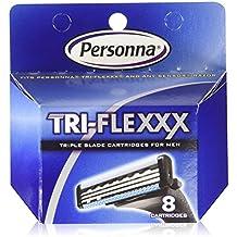 24 Personna Tri-flexxx Cartridges - For all Gillette Sensor and Personna Tri-flexxx Razors (3 X 8 Ct. )