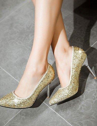 ShangYi Chaussures Femme-Mariage / Bureau & Travail / Soirée & Evénement-Noir / Rose / Or-Talon Aiguille-Talons-Talons-Similicuir golden