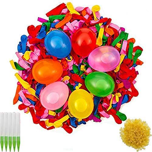 BESTZY Wasserbomben Luftballons Wasserballons Water Balloons,Einschließlich 1000 Luftballons, 1000 Gummibänder, 5 Schnell und Einfach Mal Instrumente für Strand Party
