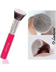 Make-Up Pinsel Kabuki - Ideal für Cremige, Pudrige oder Flüssige Foundation - Dichte Synthetische Premium Pinselhaare - Von Profis Auch Für Anfänger Empfohlen