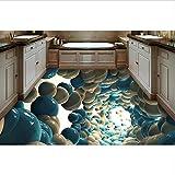 Papel tapiz mural para baño 3d foto foto Fantasía abstracta suelo de pvc 3d papel tapiz de vinilo impermeable murales para piso 3d-400x280cm