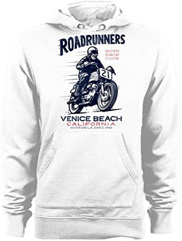 T-shirteria Race Felpa con Cappuccio Roadrunners - Moto Race T-shirteria  Club- Venice Beach- California- - Tutte Le Taglie b7d447 4da038fadf06