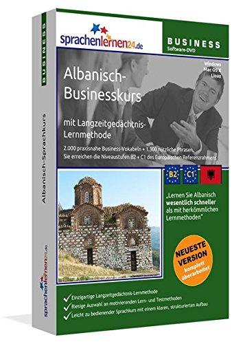 Albanisch-Businesskurs mit Langzeitgedächtnis-Lernmethode von Sprachenlernen24: Lernstufen B2+C1. Albanisch lernen für den Beruf. Software PC CD-ROM für Windows 10,8,7,Vista,XP/Linux/Mac OS X (Windows 7 Software-beste Preis)