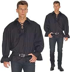Gothic Mittelalter LARP Pirat Hemd Shirt schwarz geschnürt Schnürung Soulhunter