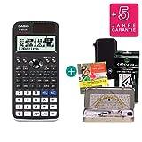 Streberpaket: Casio FX-991DE X + Schutztasche + Lern-CD + Geometrie-Set + Erweiterte Garantie