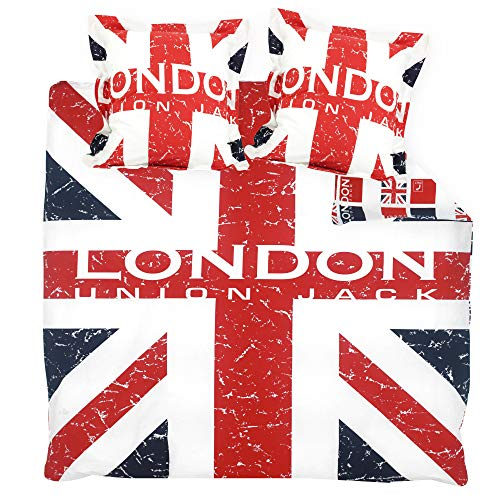 Parure de lit 200x200 cm 100% coton LONDON Union Jack