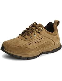 Woodland Men's Nubuck DSLMLD Olive Green Leather Shoes (GC2062116 CAMEL)