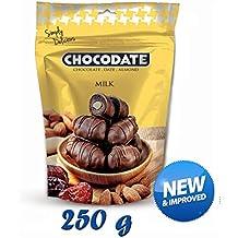 250 g Chocodate - Dátiles de chocolate con leche con almendras
