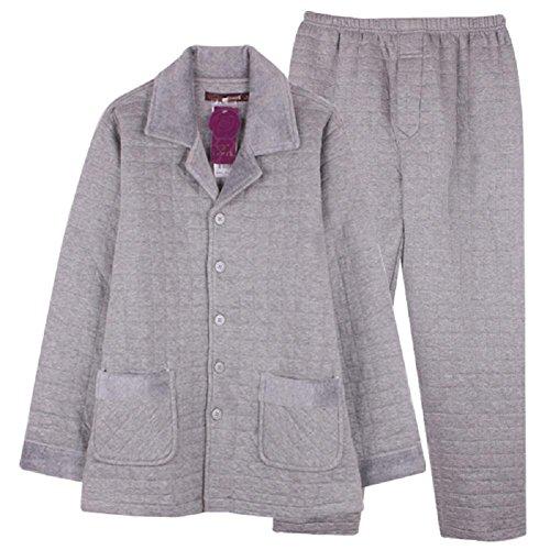 Mens pigiama home servizio sottile cartella cotone autunno inverno manica pantaloni , xxl