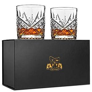Van Daemon - 'Star of Salamanca' 2-teiliges Whiskey-Gläser-Set aus bleifreiem Kristall (300ml/10oz) in attraktiver Geschenkverpackung.