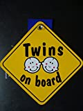 Twins On Board Diamond Car Sign