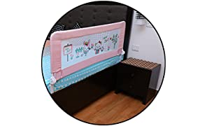 Safe-O-Kid - Large (1.8 mtr) Premium, Fit-All, Easy to Install, One-Hand Operate, Washable Bed Rails - Full Bed Size (6 ft)