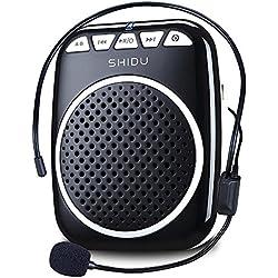 Recbot Amplificador de Voz portátil Diadema con micrófono Cable Formato de Audio MP3 para Profesores guías presentaciones Entrenadores promociones Cantar Etc