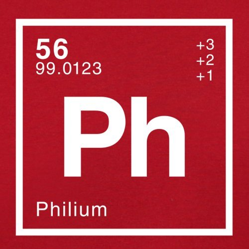 Phil Periodensystem - Herren T-Shirt - 13 Farben Rot