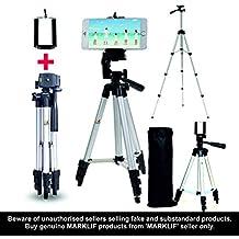 Marklif Adjustable Aluminium Alloy Tripod Stand Holder for Mobile Phones, 360 mm -1050 mm, 1/4 inch Screw